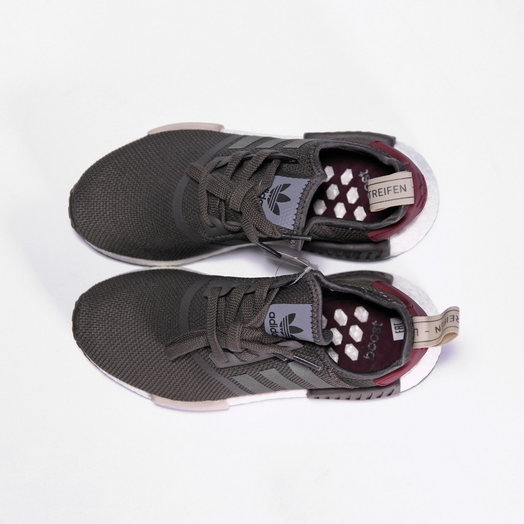Details about ADIDAS NMD R1 W UTILITY GREY OLIVE MAROON BA7752 RARE NEW