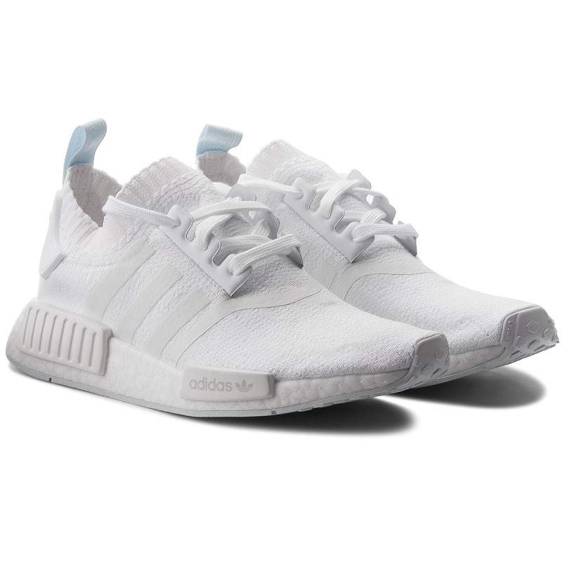 Details about ADIDAS NMD R1 PRIMEKNIT TRIPLE WHITE WOMENS SHOES CQ2040 US 9 NEW