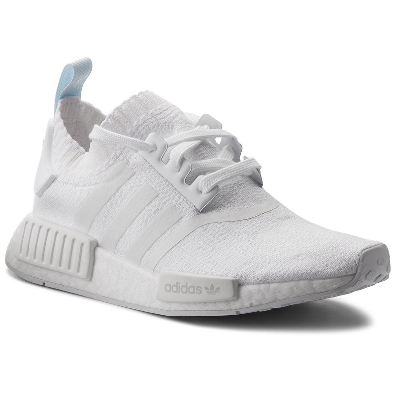 more photos 3b1bb a212f Details about ADIDAS NMD R1 TRIPLE WHITE PRIMEKNIT WOMENS SHOES CQ2040 NEW