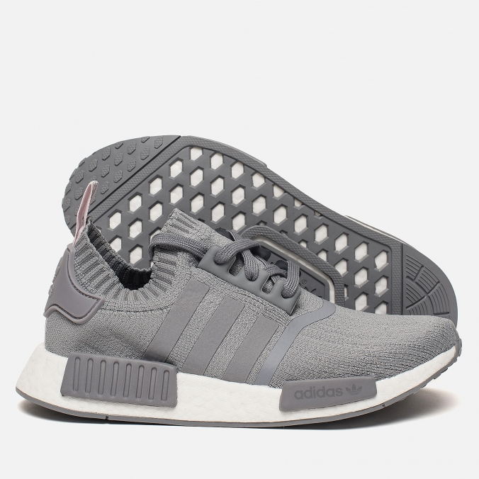 Details about ADIDAS NMD R1 GRAY PRIMEKNIT WOMENS SHOES CQ2041 NEW